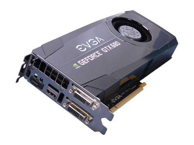 EVGA GeForce GTX 680 DirectX 11 02G-P4-2680-RX 2GB 256-Bit GDDR5 PCI Express 3.0 x16 HDCP Ready SLI Support Video Card