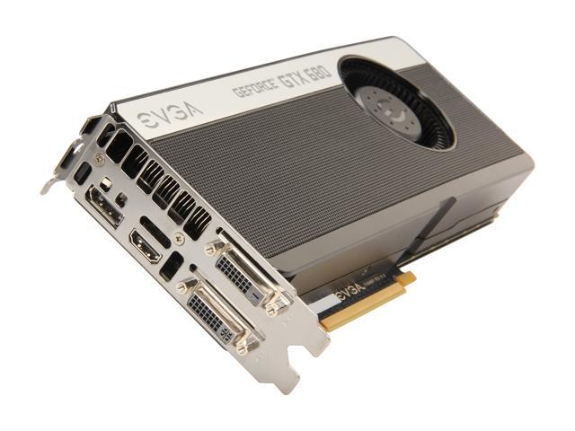 EVGA GeForce GTX 680 DirectX 11 04G-P4-2686-RX 4GB 256-Bit GDDR5 PCI Express 3.0 x16 HDCP Ready SLI Support Video Card