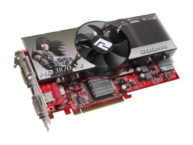 PowerColor Radeon HD 3870 X2 DirectX 10.1 AX3870X21GBD4PH 1GB 512-bit (256-bit x 2) GDDR4 PCI Express x16 HDCP Ready CrossFireX Support Video Card