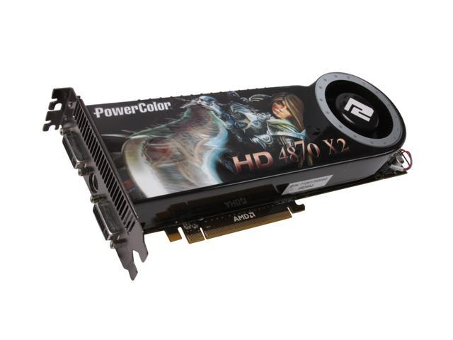 PowerColor Radeon HD 4870 X2 DirectX 10.1 AX4870X2 2GBD5-H Video Card