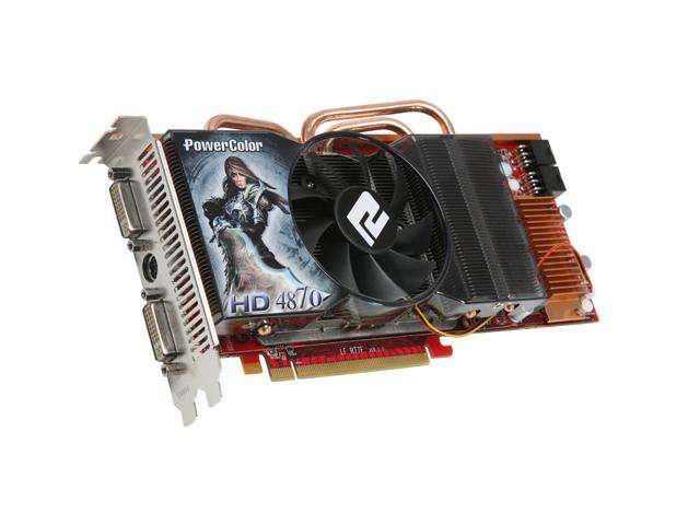 PowerColor Radeon HD 4870 DirectX 10.1 AX4870 1GBD5 1GB 256-Bit GDDR5 PCI Express 2.0 x16 HDCP Ready CrossFireX Support Video Card