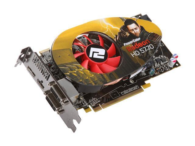 PowerColor Radeon HD 5770 DirectX 11 AX5770 1GBD5-MDHV2 1GB 128-Bit GDDR5 PCI Express 2.1 x16 HDCP Ready CrossFireX Support Video Card