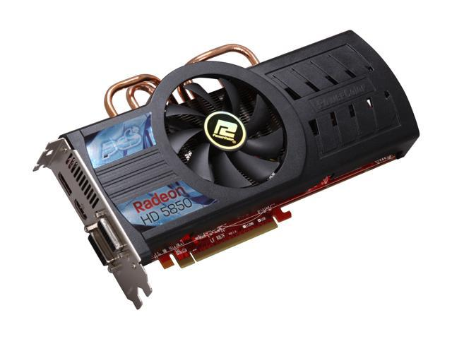 PowerColor PCS+ Radeon HD 5850 (Cypress Pro) DirectX 11 AX5850 1GBD5-PPDHG2 1GB 256-Bit GDDR5 PCI Express 2.0 x16 HDCP Ready CrossFireX Support Video Card