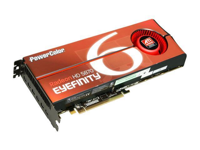 PowerColor Radeon HD 5870 (Cypress XT) DirectX 11 AX5870 2GBD5-M6D Eyefinity 6 Edition Video Card