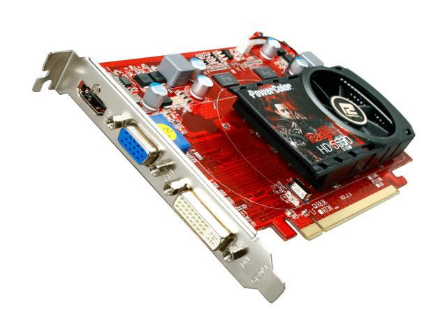 PowerColor Radeon HD 5550 DirectX 11 AX5550 512MK3-H 512MB 128-Bit DDR3 PCI Express 2.1 x16 HDCP Ready Video Card