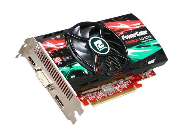 PowerColor AX5770 Evolution 1GBD5-DHC1 Radeon HD 5770 128-bit GDDR5 PCI Express 2.0 x16 CrossFireX Support Video Card