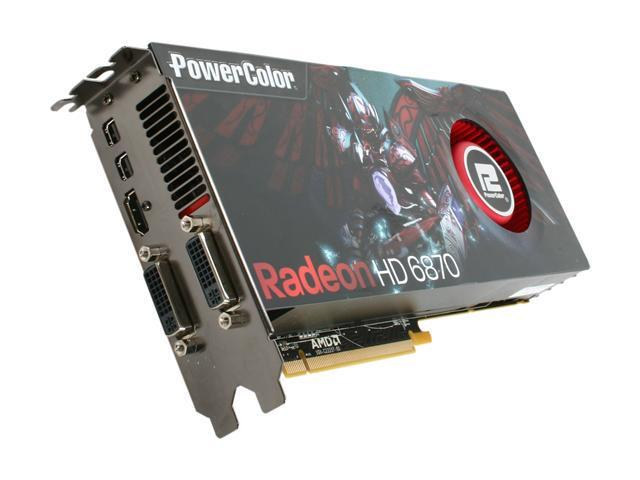 PowerColor Radeon HD 6870 DirectX 11 AX6870 1GBD5-M2DH 1GB 256-Bit GDDR5 PCI Express 2.1 x16 HDCP Ready CrossFireX Support Video Card with Eyefinity