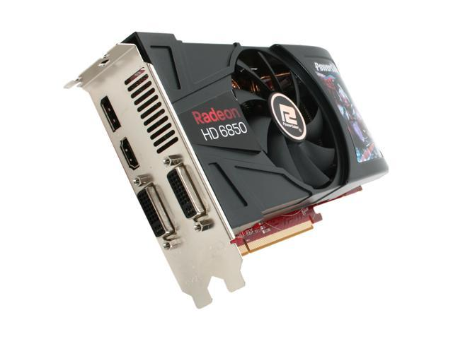 PowerColor Radeon HD 6850 DirectX 11 AX6850 1GBD5-DH 1GB 256-Bit GDDR5 PCI Express 2.1 x16 HDCP Ready CrossFireX Support Video Card with Eyefinity