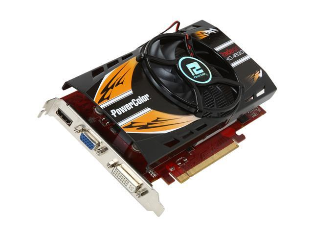 PowerColor Radeon HD 4830 DirectX 10.1 AX4830 512MD3 512MB 256-Bit GDDR3 PCI Express 2.0 x16 HDCP Ready CrossFireX Support Video Card