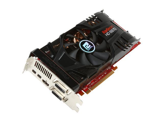PowerColor PCS+ Radeon HD 6870 DirectX 11 AX6870 1GBD5-PP2DHGJ Video Card with Eyefinity