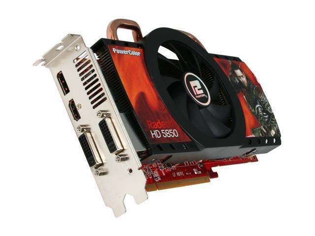 PowerColor Radeon HD 5850 DirectX 11 AX5850 1GBD5-DH Video Card with Eyefinity