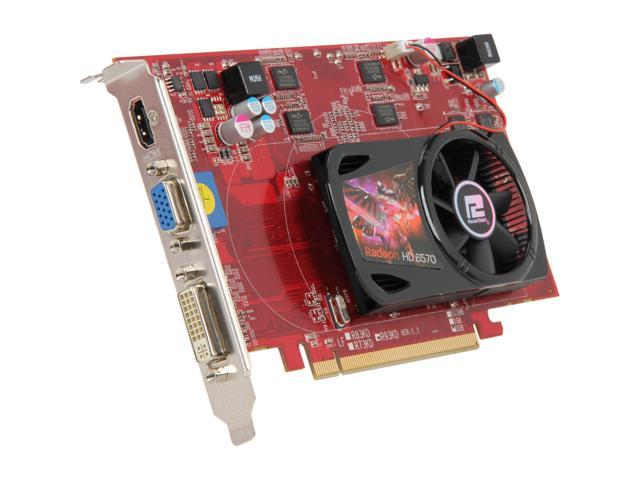PowerColor Radeon HD 6570 DirectX 11 AX6570 2GBK3-H 2GB 128-Bit DDR3 PCI Express 2.1 x16 HDCP Ready Video Card