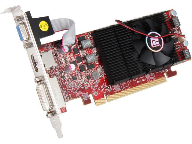PowerColor Radeon R7 250 DirectX 11.2 AXR7 250 1GBD5-HLE 1GB 128-Bit GDDR5 PCI Express 3.0 CrossFireX Support Low Profile Ready Video Card