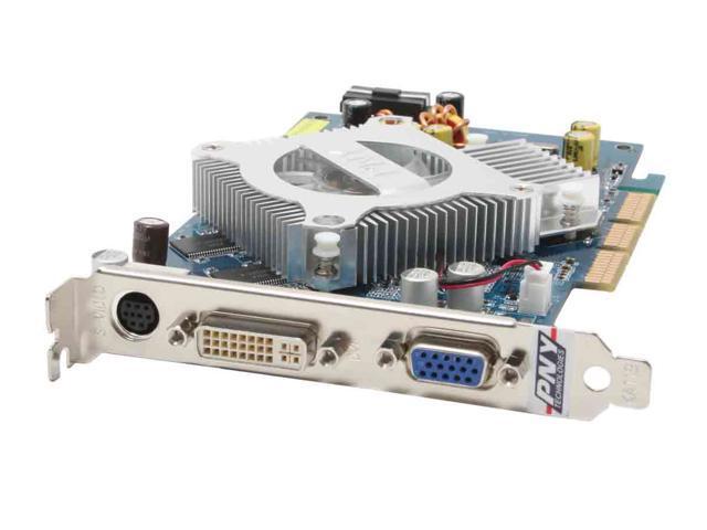 PNY 6 GeForce 6600 DirectX 9 VCG66256APB 256MB 128-Bit DDR AGP 4X/8X Video Card