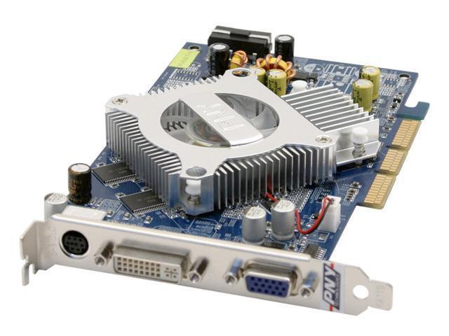 PNY 6 GeForce 6200 DirectX 9 VCG6200APB 128MB 128-Bit DDR AGP 4X/8X Video Card
