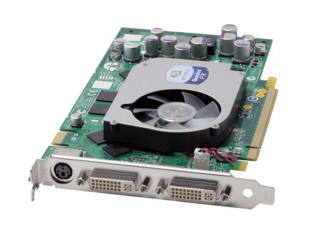 PNY Quadro FX 1400 VCQFX1400-PCIE-PB 128MB 256-bit DDR PCI Express x16 Workstation Video Card