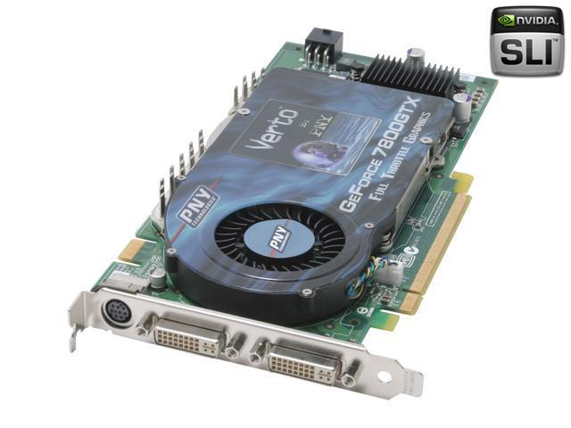 PNY GeForce 7800GTX DirectX 9 VCG7800XXWB Video Card - OEM