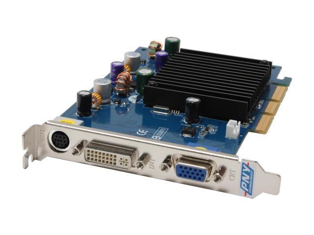 PNY 6 GeForce 6200 DirectX 9 VCG62128APB 128MB 64-Bit DDR AGP 4X/8X Video Card