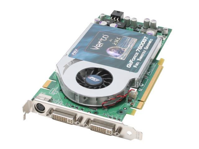 PNY GeForce 7800GT DirectX 9 VCG7800GXWB 256MB 256-Bit GDDR3 PCI Express x16 SLI Support Video Card