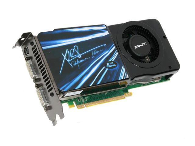 PNY GeForce 8800GTS (G92) DirectX 10 VCG88GTS5XPB 512MB 256-Bit GDDR3 PCI Express 2.0 x16 HDCP Ready SLI Support Video Card
