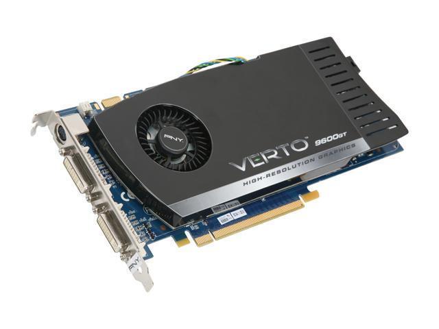 PNY 9 GeForce 9600 GT DirectX 10 VCG96512GXEB-FLB 512MB 256-Bit GDDR3 PCI Express 2.0 x16 HDCP Ready SLI Support Video Card