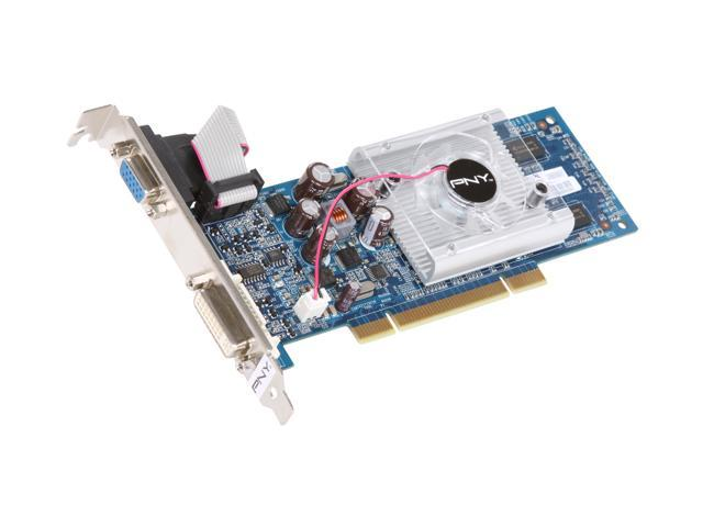 PNY XLR8 GeForce 8400 GS DirectX 10 VCG84512SPEB 512MB 64-Bit GDDR2 PCI Low Profile Ready Video Card