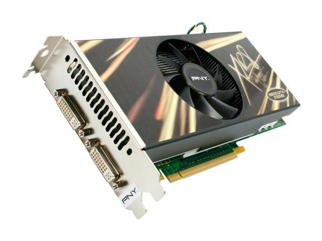 PNY GeForce 9800 GTX+ DirectX 10 VCG98GTXPXPB 512MB 256-Bit GDDR3 PCI Express 2.0 x16 HDCP Ready SLI Support Video Card