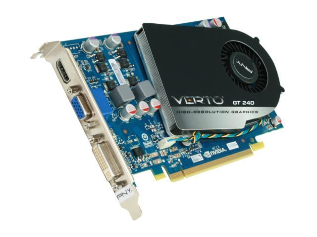 PNY GeForce GT 240 DirectX 10.1 VCGGT2405G5XEB 512MB 128-Bit GDDR5 PCI Express 2.0 x16 HDCP Ready Video Card