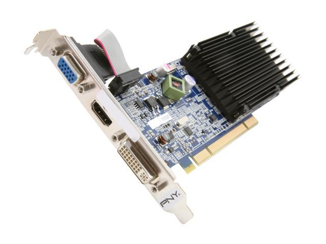 PNY XLR8 GeForce 8400 GS DirectX 10 VCG84512D3SPPB 512MB 64-Bit DDR3 PCI HDCP Ready Low Profile Video Card