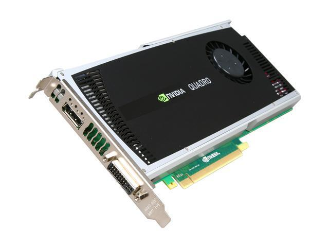 PNY Quadro 4000 for Mac VCQ4000MAC-PB 2GB 256-bit GDDR5 PCI Express 2.0 x16 Workstation Video Card For MAC