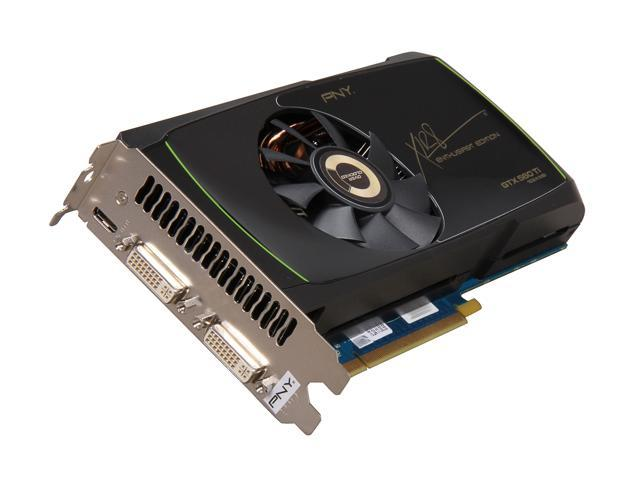PNY GTX 500 GeForce GTX 560 Ti (Fermi) DirectX 11 VCGGTX560TXPB-OC2-S 1GB 256-Bit GDDR5 PCI Express 2.0 x16 HDCP Ready SLI Support Plug-in Card Video Card