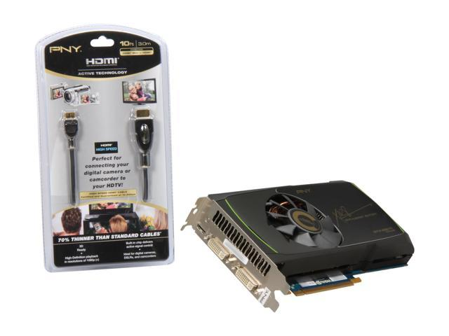 PNY GeForce GTX 560 Ti (Fermi) DirectX 11 VCGGTX560TXPB-OC-BDL Video Card with 10ft HDMI Mini to HDMI Cable