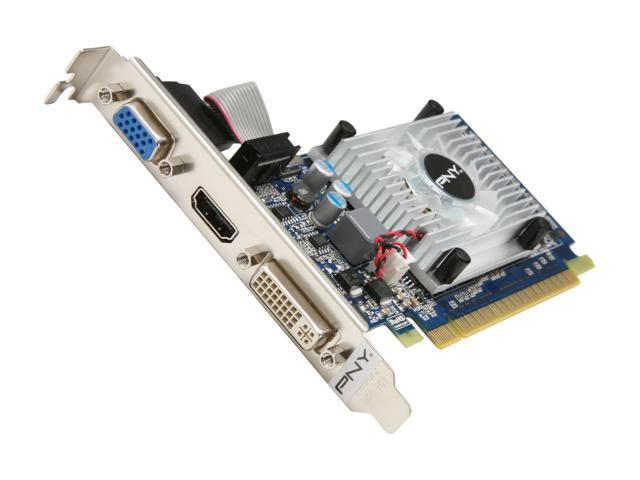 PNY GeForce GT 520 (Fermi) DirectX 11 VCGGT5201XPB 1GB 64-Bit DDR3 PCI Express 2.0 x16 HDCP Ready Low Profile Ready Video Card