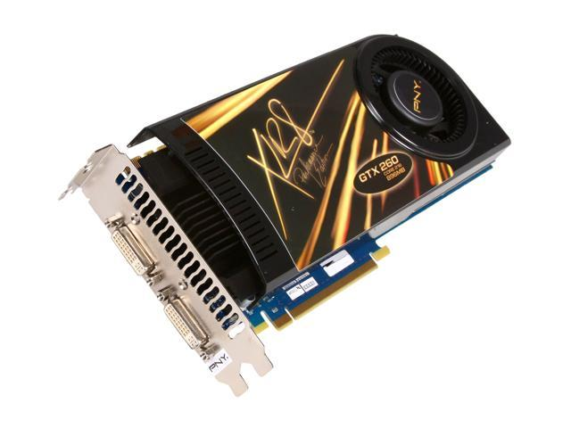 PNY GeForce GTX 260 DirectX 10 RVCGGTX260CXXB 896MB 448-Bit GDDR3 PCI Express 2.0 x16 HDCP Ready SLI Support Video Card