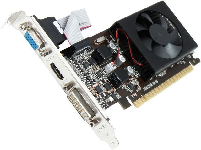PNY GeForce GT 610 DirectX 11 VCGGT610XPB 1GB 64-Bit DDR3 PCI Express 2.0 x16 HDCP Ready Video Card