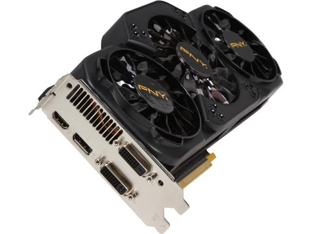 PNY VCGGTX780T3XPB-OC G-SYNC Support GeForce GTX 780 Ti 3GB 384-Bit GDDR5 PCI Express 3.0 x16 SLI Support Video Card