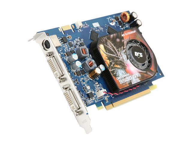 ECS GeForce 9500 GT DirectX 10 N9500GT-512MUL-F 512MB 128-Bit DDR3 PCI Express 2.0 x16 HDCP Ready SLI Support Video Card