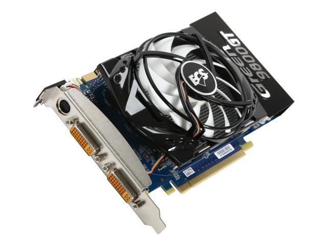 ECS GeForce 9800 GT DirectX 10 NR9800GTE-1GMU-F Video Card