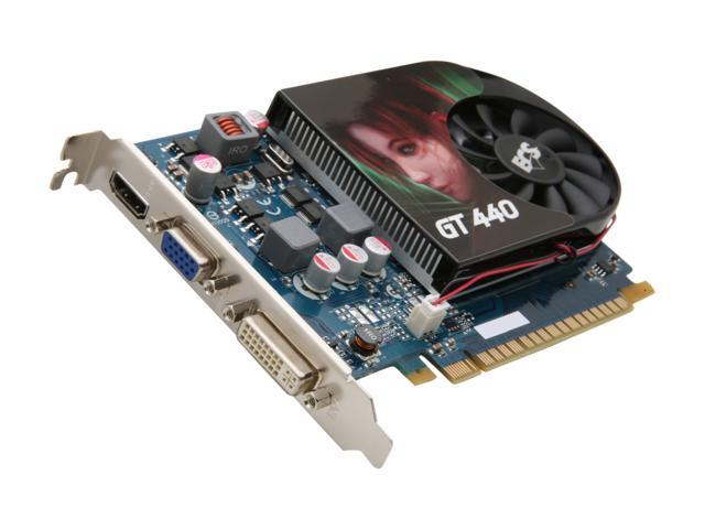 ECS GeForce GT 440 (Fermi) DirectX 11 NGT440-512QI-F1 512MB 128-Bit GDDR5 PCI Express 2.0 x16 HDCP Ready Video Card