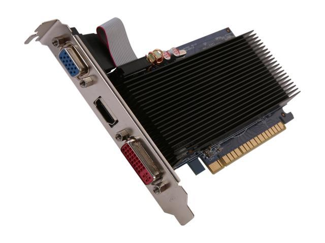 ECS GeForce 8400 GS DirectX 10 N8400GSC-1GQM-H2 1GB 64-Bit DDR3 PCI Express 2.0 x16 HDCP Ready Video Card
