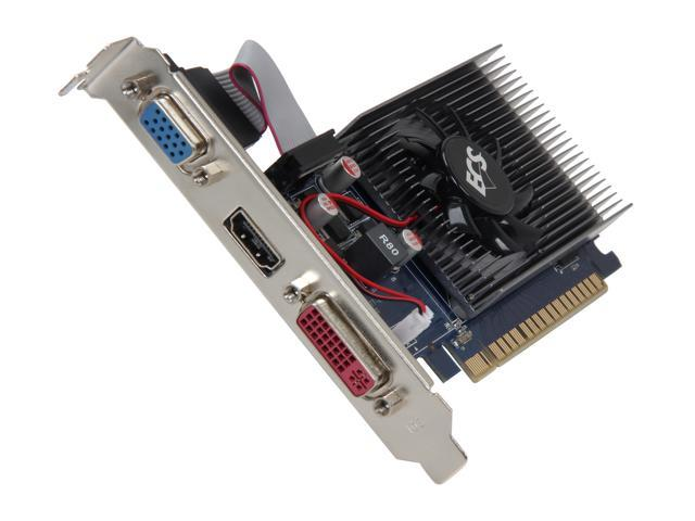 ECS GeForce GT 430 (Fermi) DirectX 11 NGT430C-1GQM-F2 1GB 64-Bit DDR3 PCI Express 2.0 x16 HDCP Ready Video Card