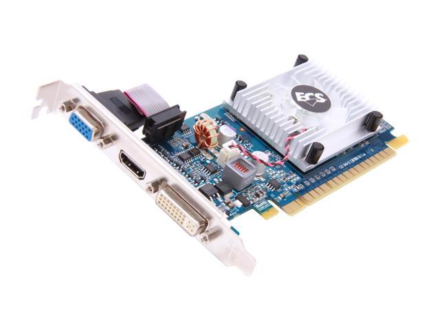 ECS GeForce 210 DirectX 10.1 NG210C-512QO-F(v1.0) Video Card