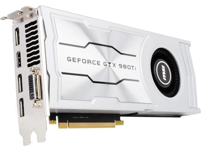 MSI GeForce GTX 980 Ti DirectX 12 VDGTX980TI6GD5V 6GB 384-Bit GDDR5 PCI Express 3.0 x16 HDCP Ready SLI Support ATX Video Card