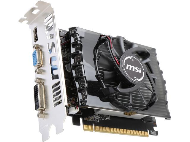 MSI N730-2GD3 GeForce GT 730 2GB 128-Bit DDR3 PCI Express 2.0 HDCP Ready Video Card