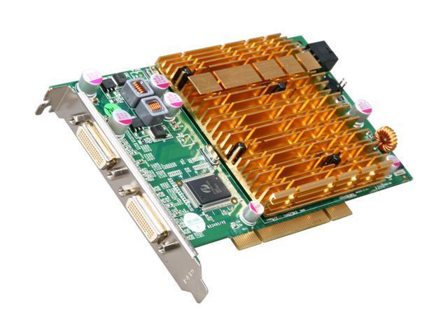 JATON VIDEO-348PCI-Quad GeForce 6200 4 VGA outputs 512MB DDR2 Per GPU 1GB Total Onboard 64-bit PCI Video Card