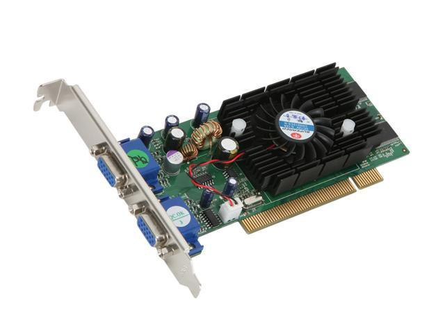 JATON GeForce FX 5200 DirectX 9 Video-228PCI-Twin 128MB 64-Bit DDR PCI Video Card