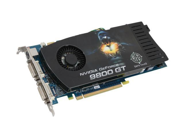 BFG Tech GeForce 9800 GT DirectX 10 BFGE98512GTE 512MB 256-Bit GDDR3 PCI Express 2.0 x16 HDCP Ready SLI Support Video Card