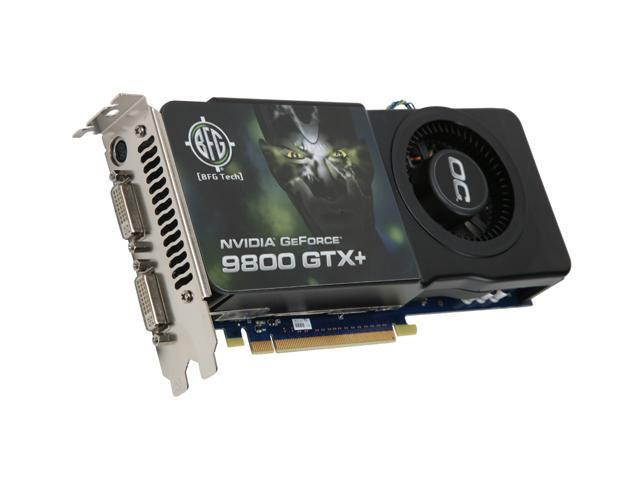 BFG Tech GeForce 9800 GTX+ DirectX 10 BFGE981024GTXPOCE 1GB 256-Bit GDDR3 PCI Express 2.0 x16 HDCP Ready SLI Support Video Card