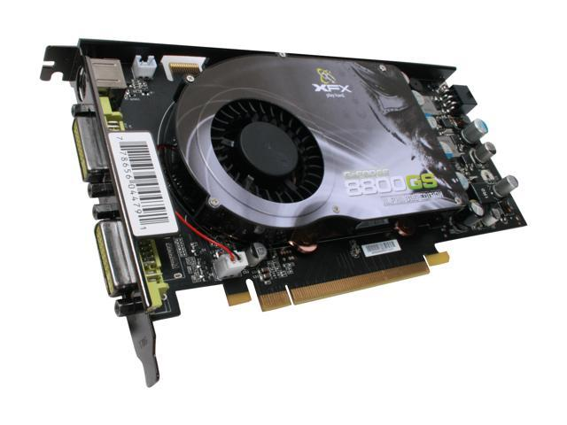 XFX GeForce 8800 GS DirectX 10 PVT88SFDF4 384MB 192-Bit GDDR3 PCI Express 2.0 x16 HDCP Ready SLI Support Video Card