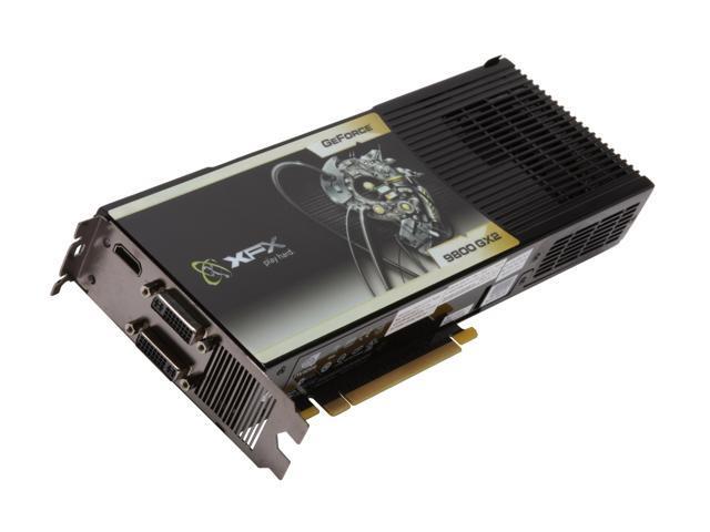XFX GeForce 9800 GX2 DirectX 10 PVT98UZHDU 1GB 512-Bit GDDR3 PCI Express 2.0 x16 HDCP Ready SLI Support Video Card